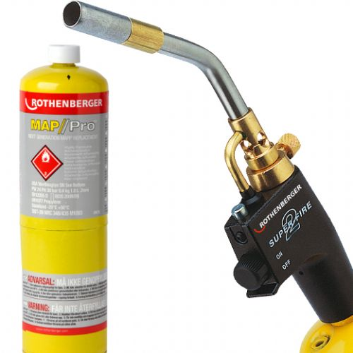 Rothenberger Superfire 2 Turbo Torch & Mapp Gas Cylinder